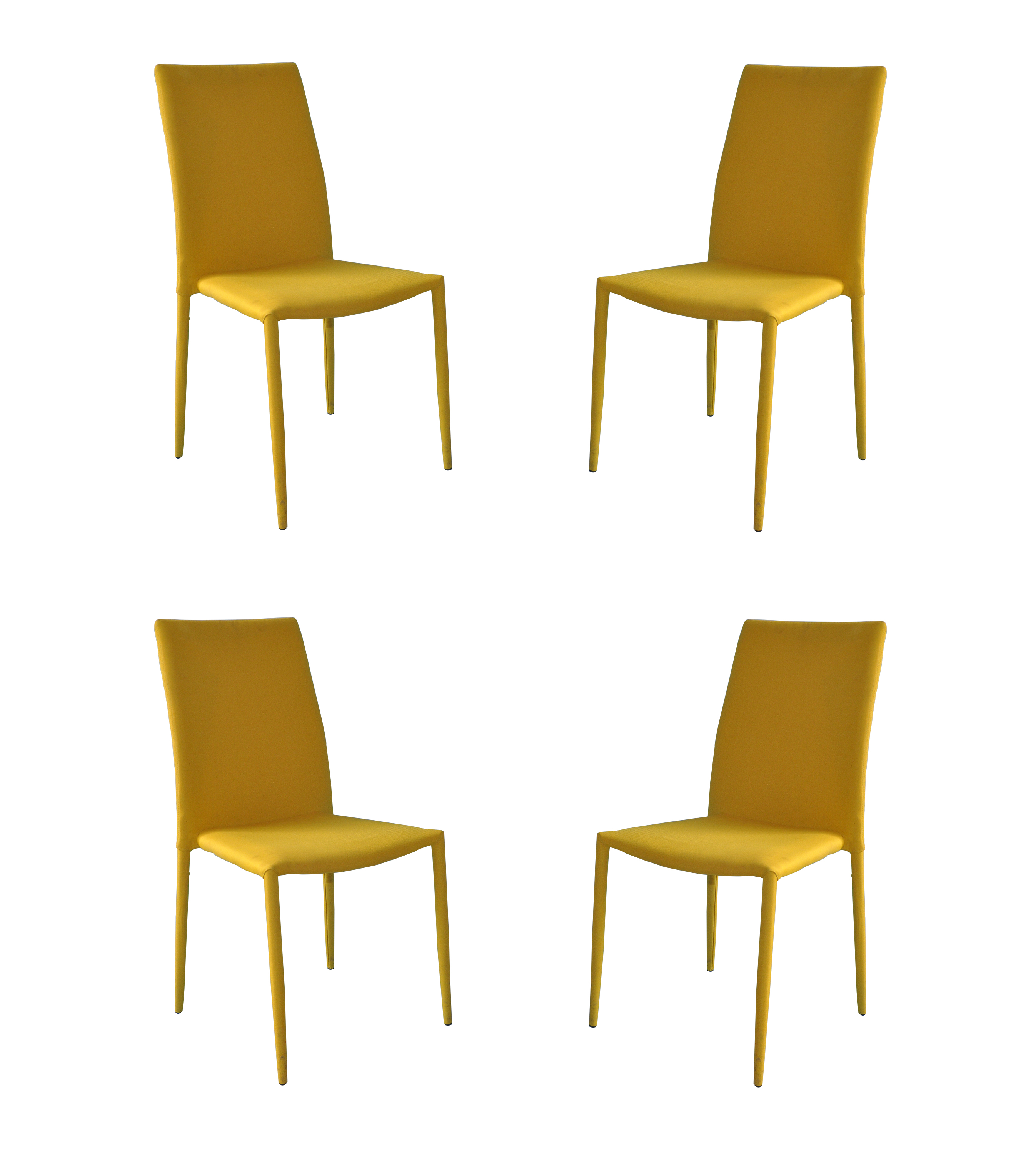 Dining Room Accent Pieces: Set Of 4 Piece Modern And Sleek Fabric Dining Room Chairs