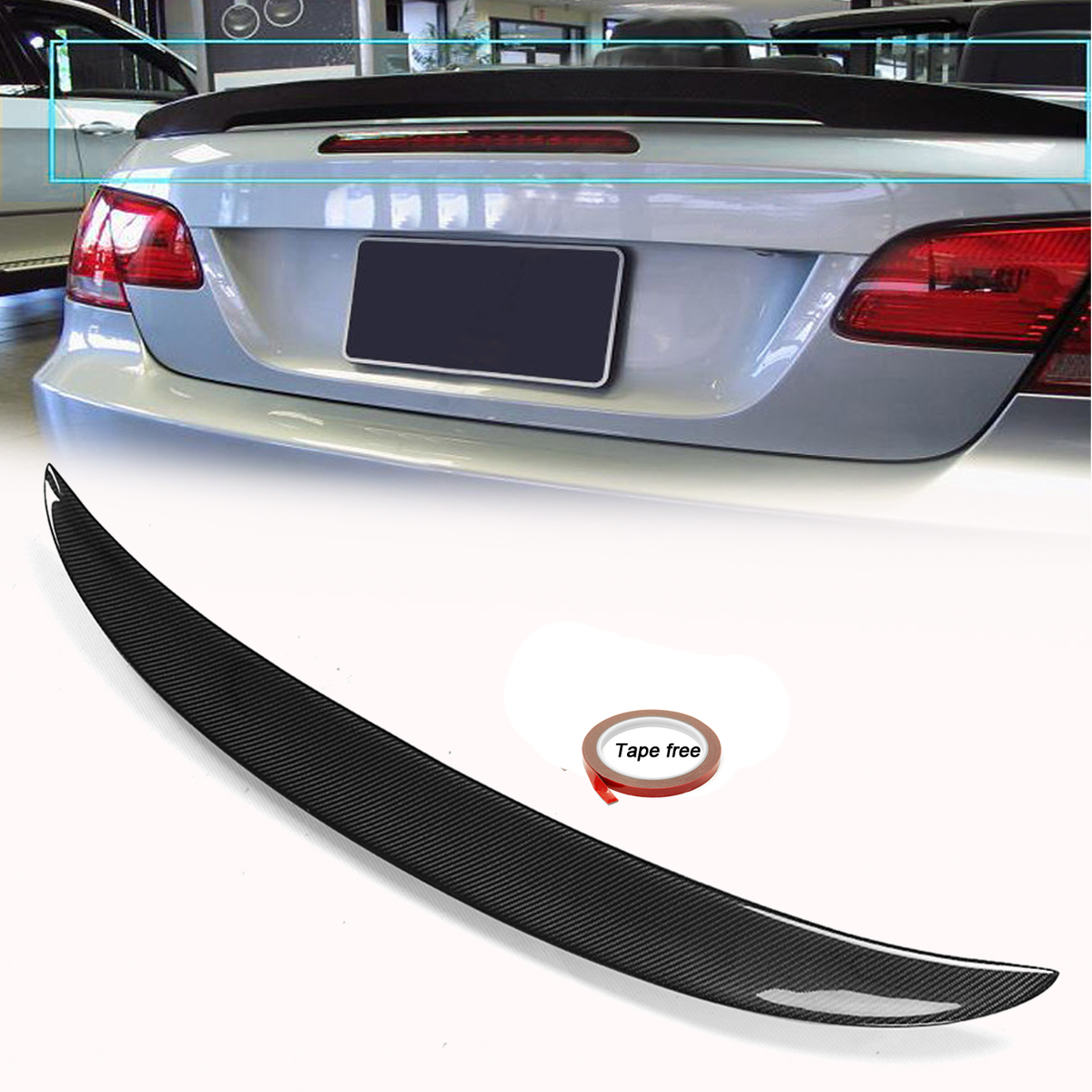 Bmw Z3 Wing Mirror Mount: Carbon Fiber Ducktail Boot Spoiler For BMW