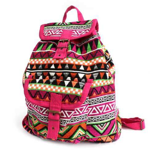 nepal style backpack - pink