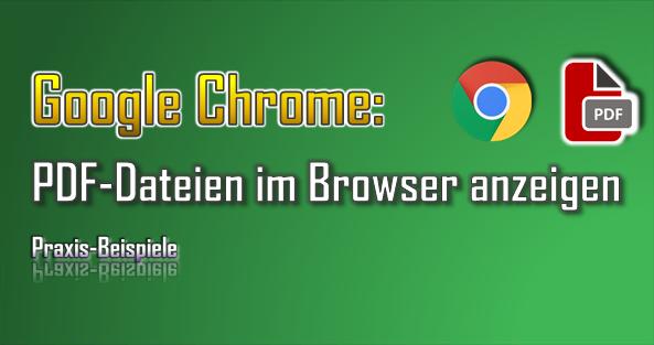 In der Praxis kann man den PDF Viewer von Google Chrome für zahlreiche Dokumente nutzen.