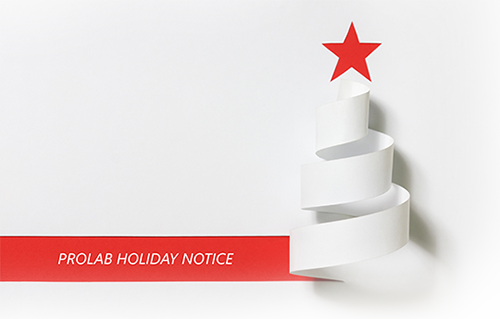 Prolab Christmas Notice