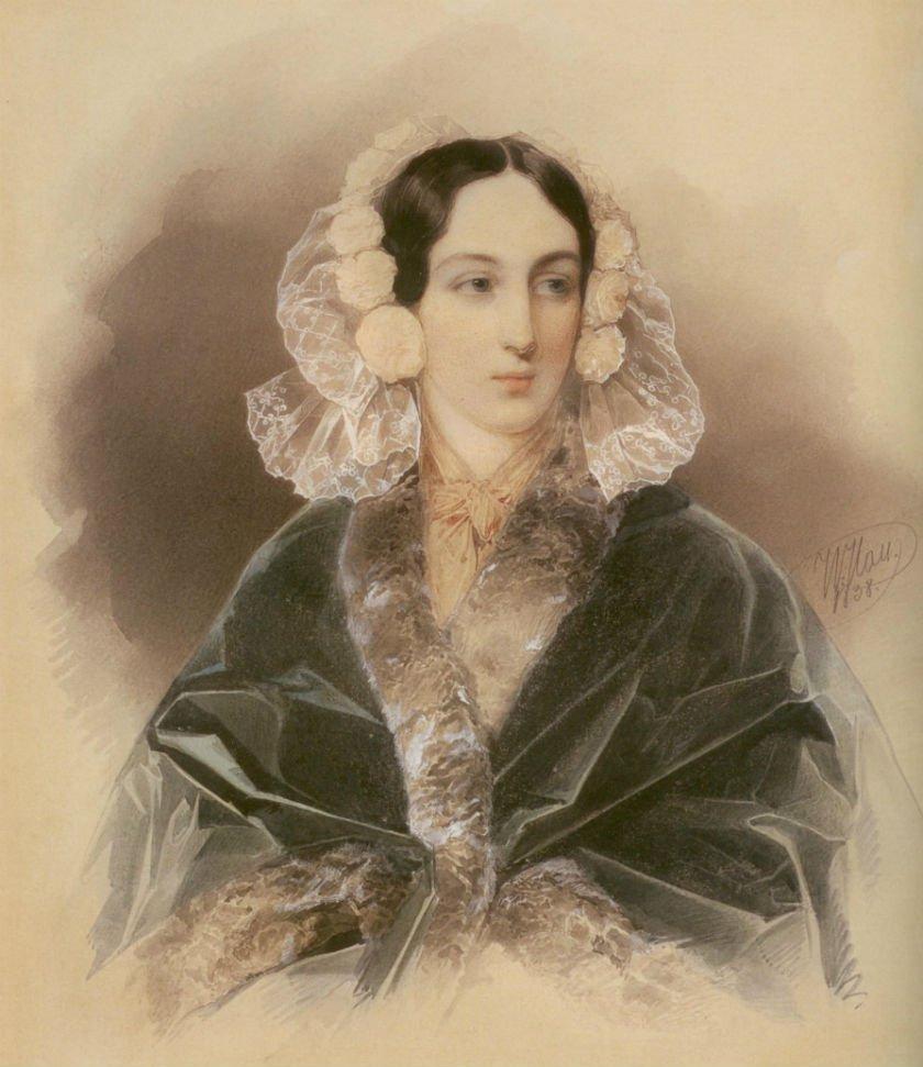 Gau v, Maria Vyazemskaya, acuarela
