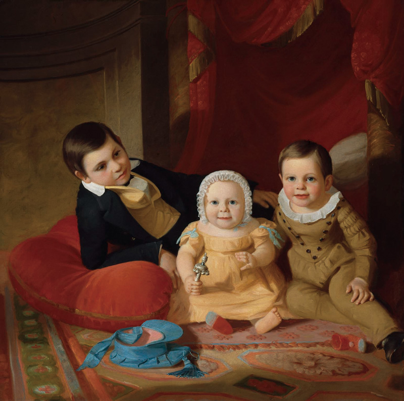 ジョン・F.フランシス《3人の子ども》(1840年) Gift of Maxim Karolik for the M. and M. Karolik Collection of American Paintings, 1815-1865, 47.1142 ボストン美術館蔵、Photographs (C) Museum of Fine Arts, Boston