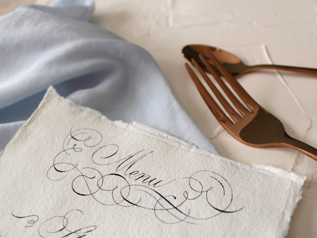 Wedding Menu Header