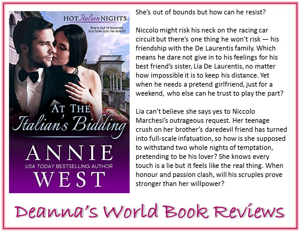 At The Italian's Bidding by Annie West blurb
