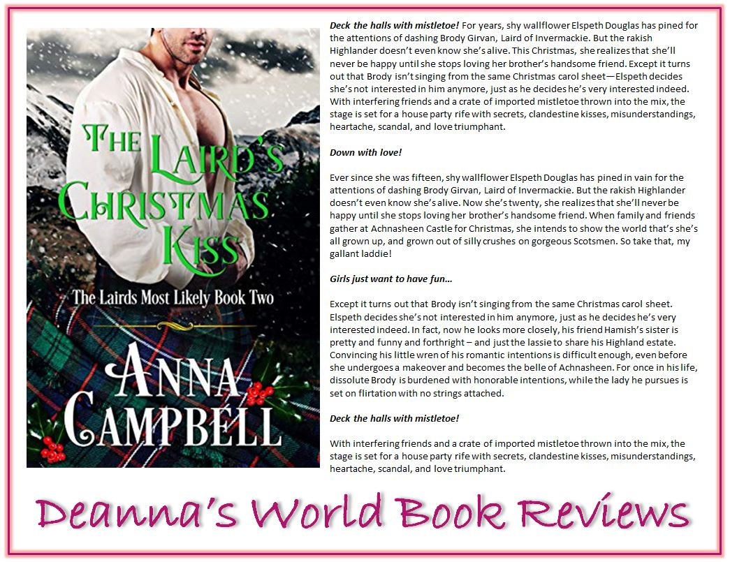 The Laird's Christmas Kiss by Anna Campbell blurb