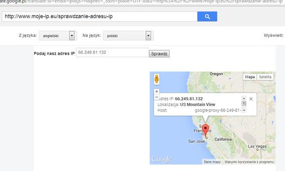 Darmowe proxy z USA, prosto od Google, poprzez Google Translator :)