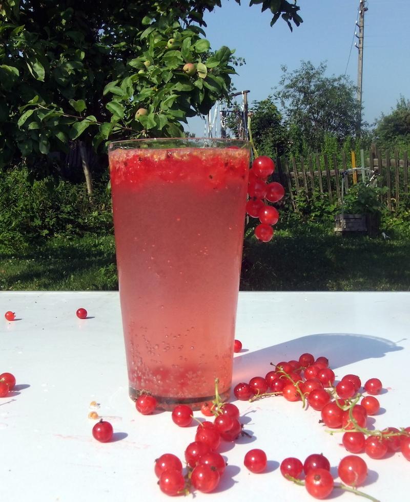 Освежающий напиток из красной смородины