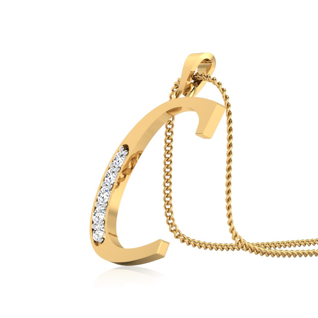 The Classy C Diamond Pendant