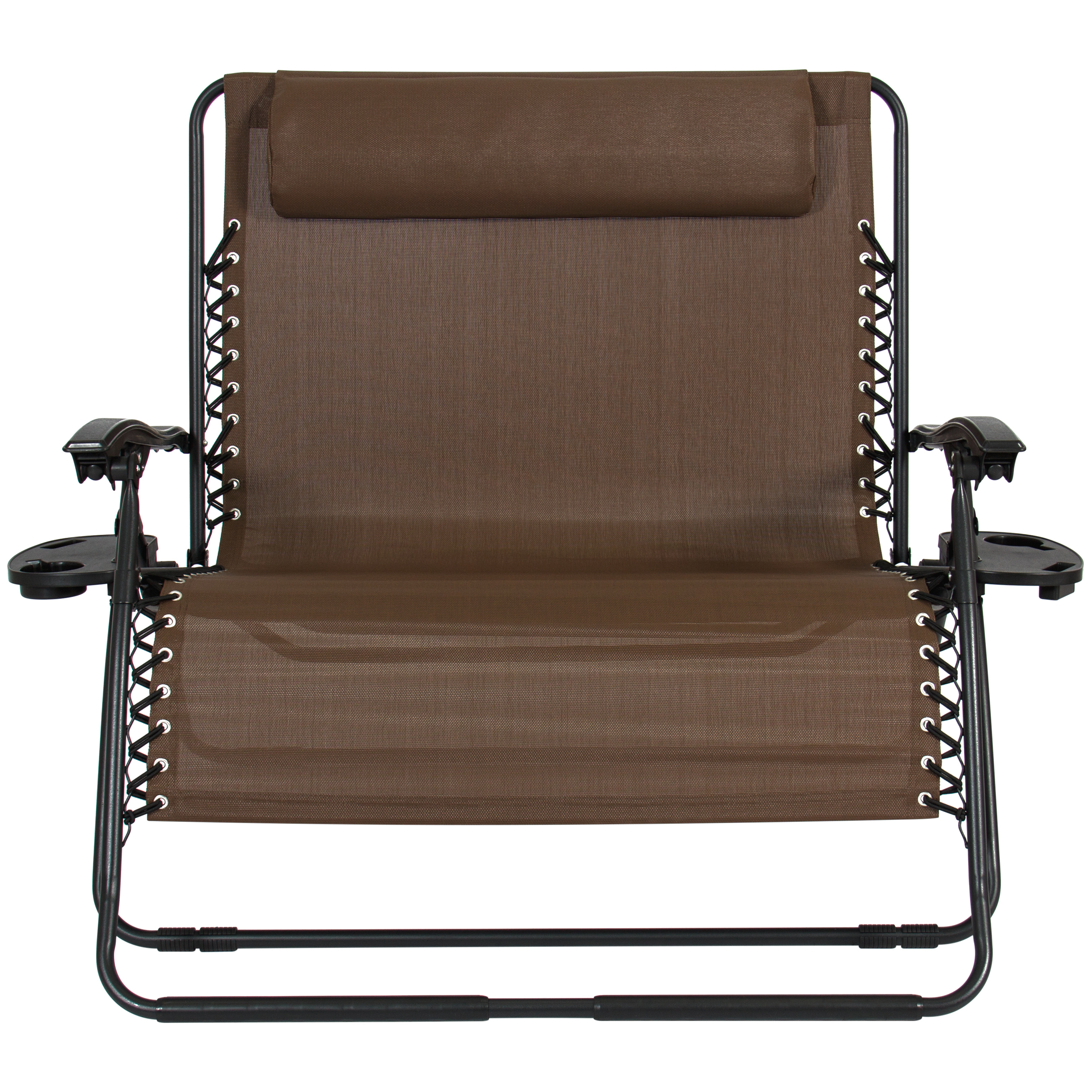 BCP 2-Person Double Wide Zero Gravity Chair w/ Cup Holders ...