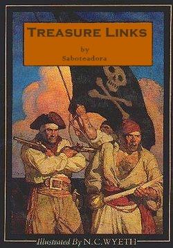 """Libro """"Los Enlaces del Tesoro"""", parodia de """"La Isla del Tesoro""""."""