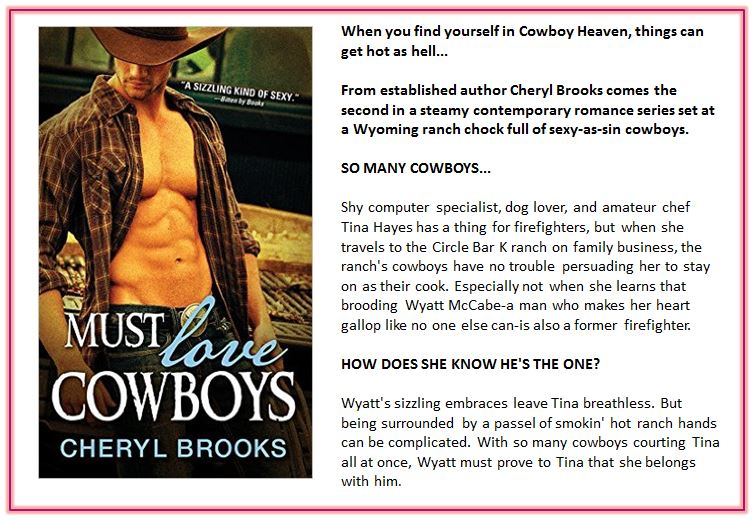 Must Love Cowboys by Cheryl Brooks blurb
