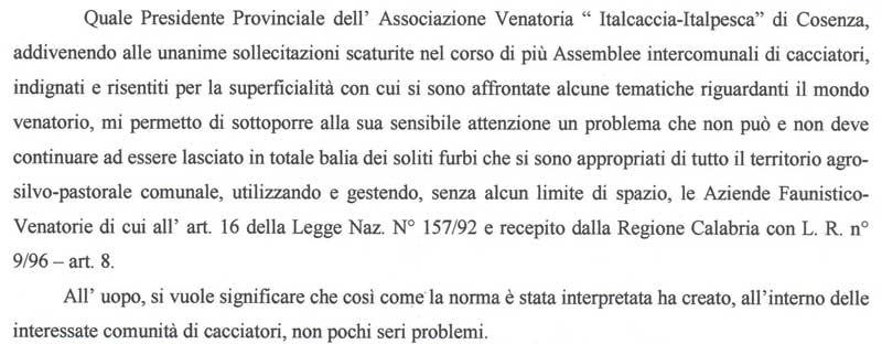 Lettera del Presidente Vincenzo Martino al Presidente della IV Commissione