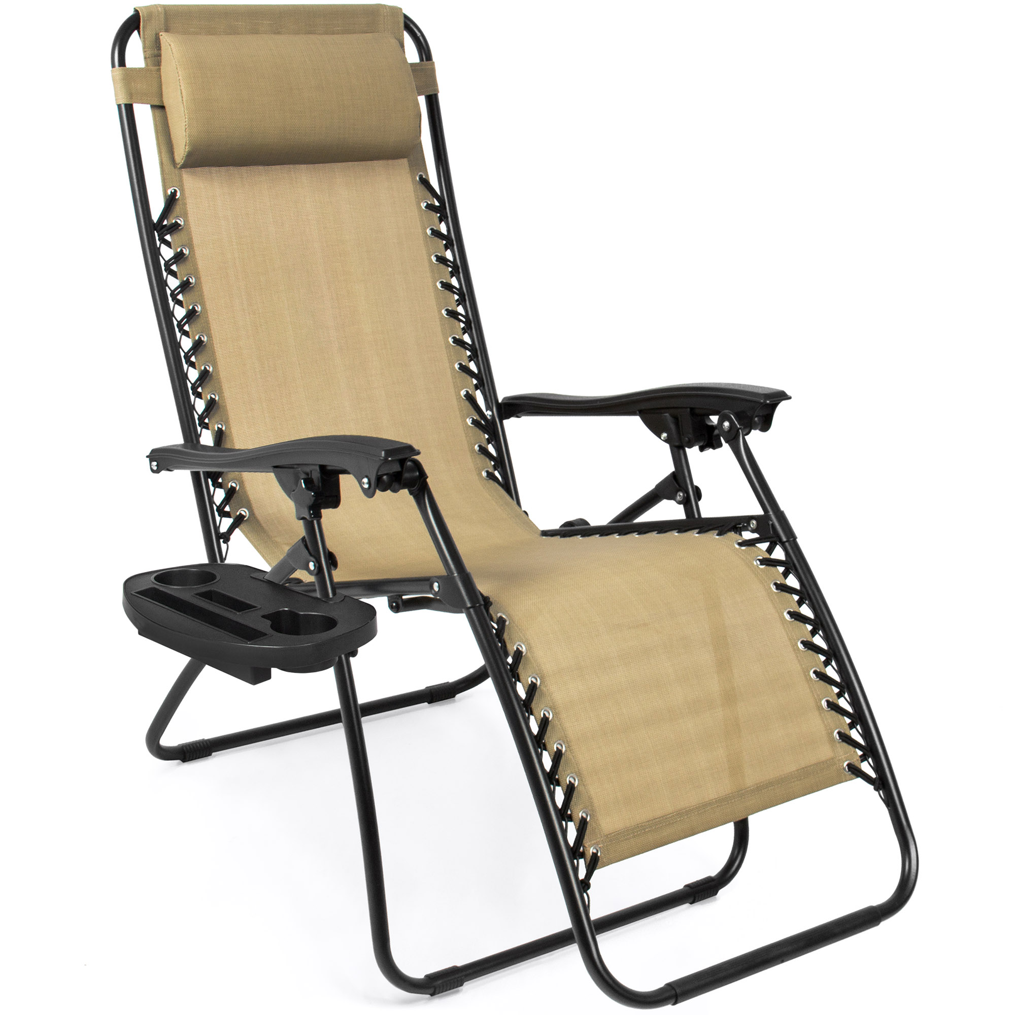 BCP-Set-of-2-Adjustable-Zero-Gravity-Patio-Chair-Recliners-w-Cup-Holders thumbnail 10