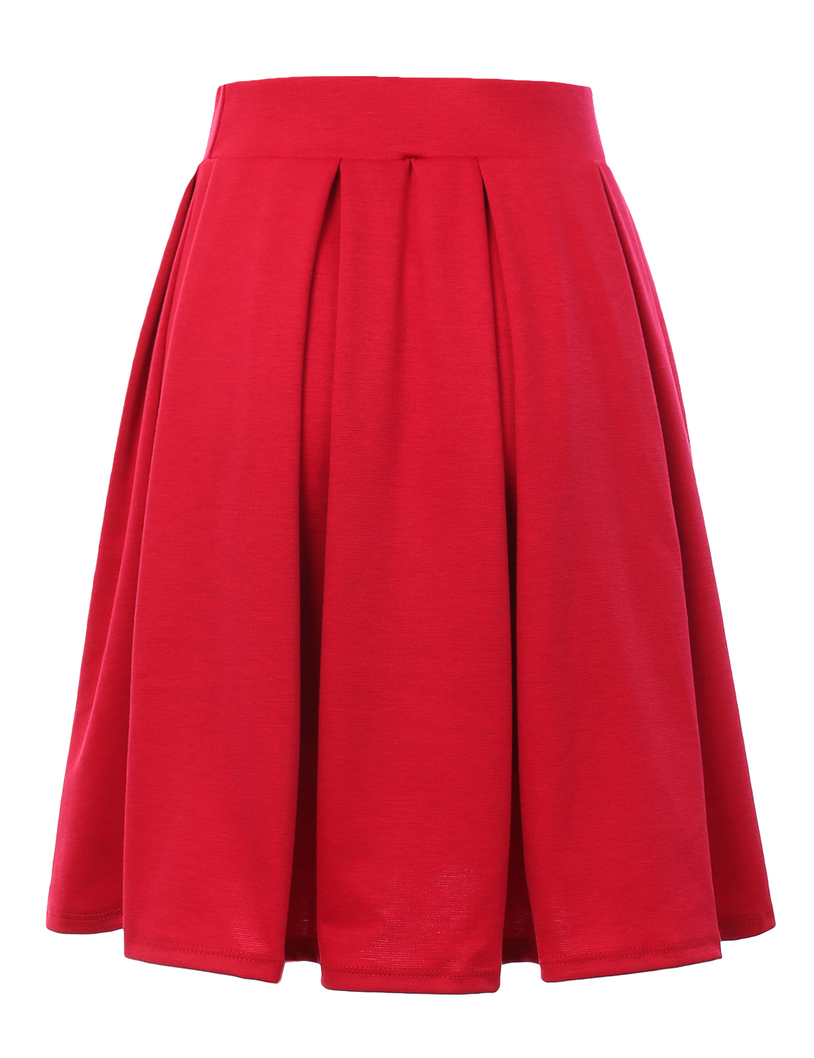 Doublju-Elastic-Waist-Flare-Pleated-Skater-Midi-Skirt-for-Women-with-Plus-Size thumbnail 42