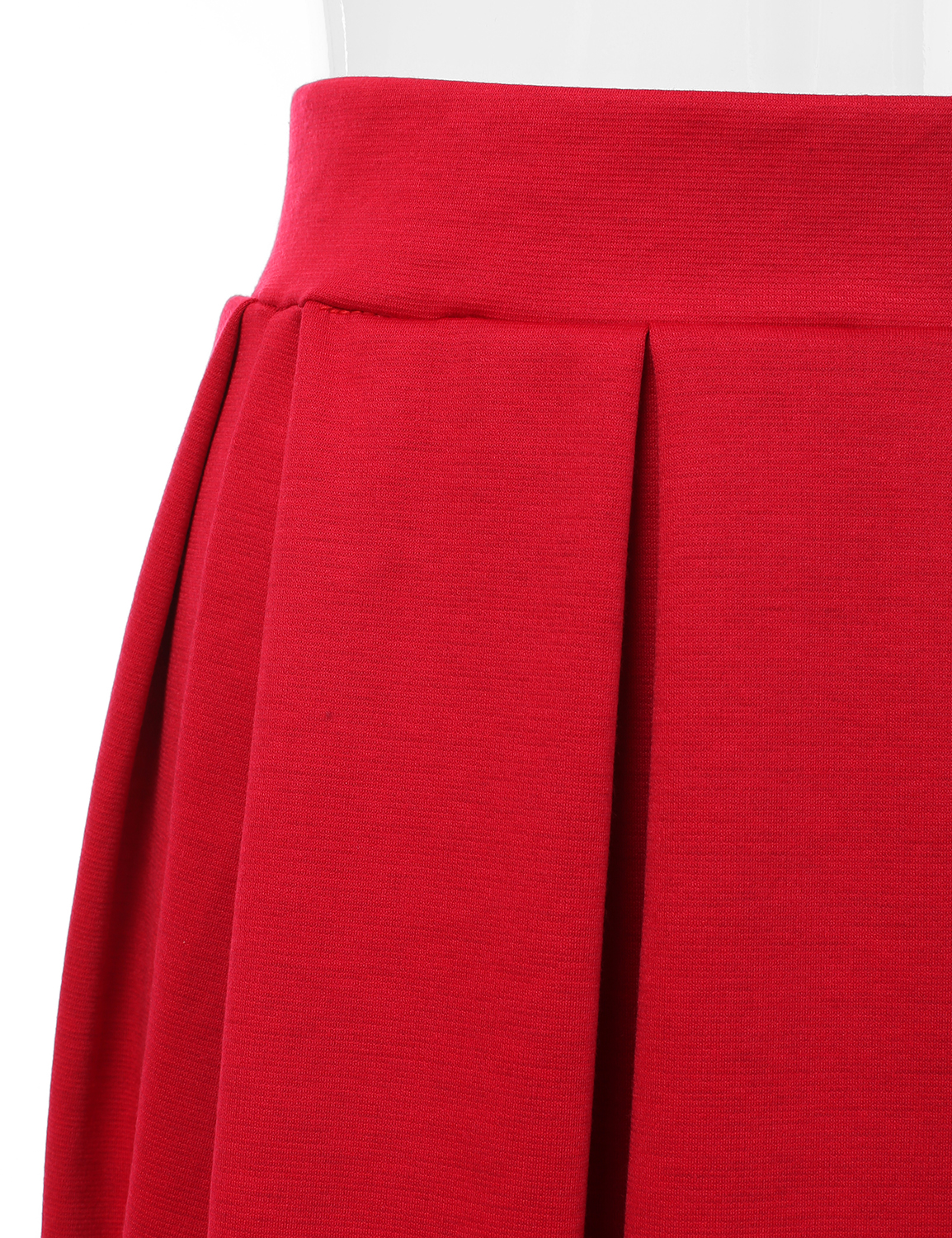 Doublju-Elastic-Waist-Flare-Pleated-Skater-Midi-Skirt-for-Women-with-Plus-Size thumbnail 43