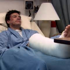 Michael Bluth leaves the hospital to save the business.