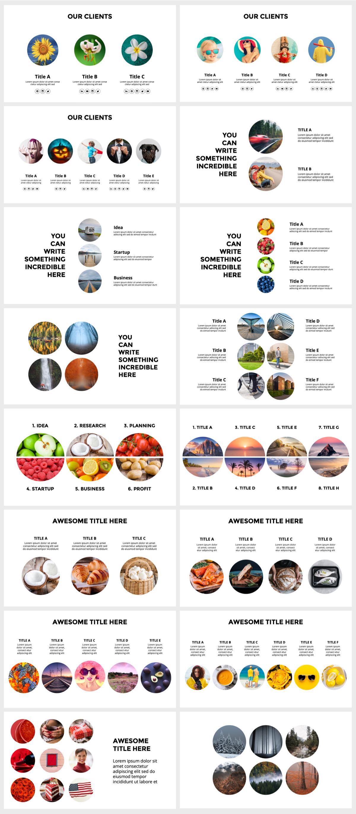 Huge Infographics Bundle! Lifetime Updates! PowerPoint, Photoshop, Illustrator. - 149