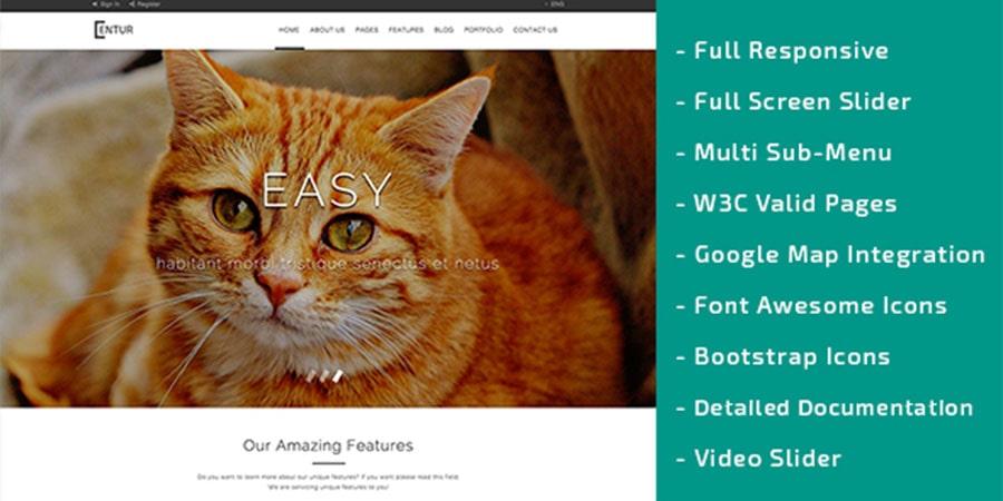 Entur – Multipurpose Bootstrap HTML Template