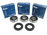 Boss Bearing 41-6278BP-8G1-B-3 Premium Rear Wheel Bearings and Seals Kit Hond...