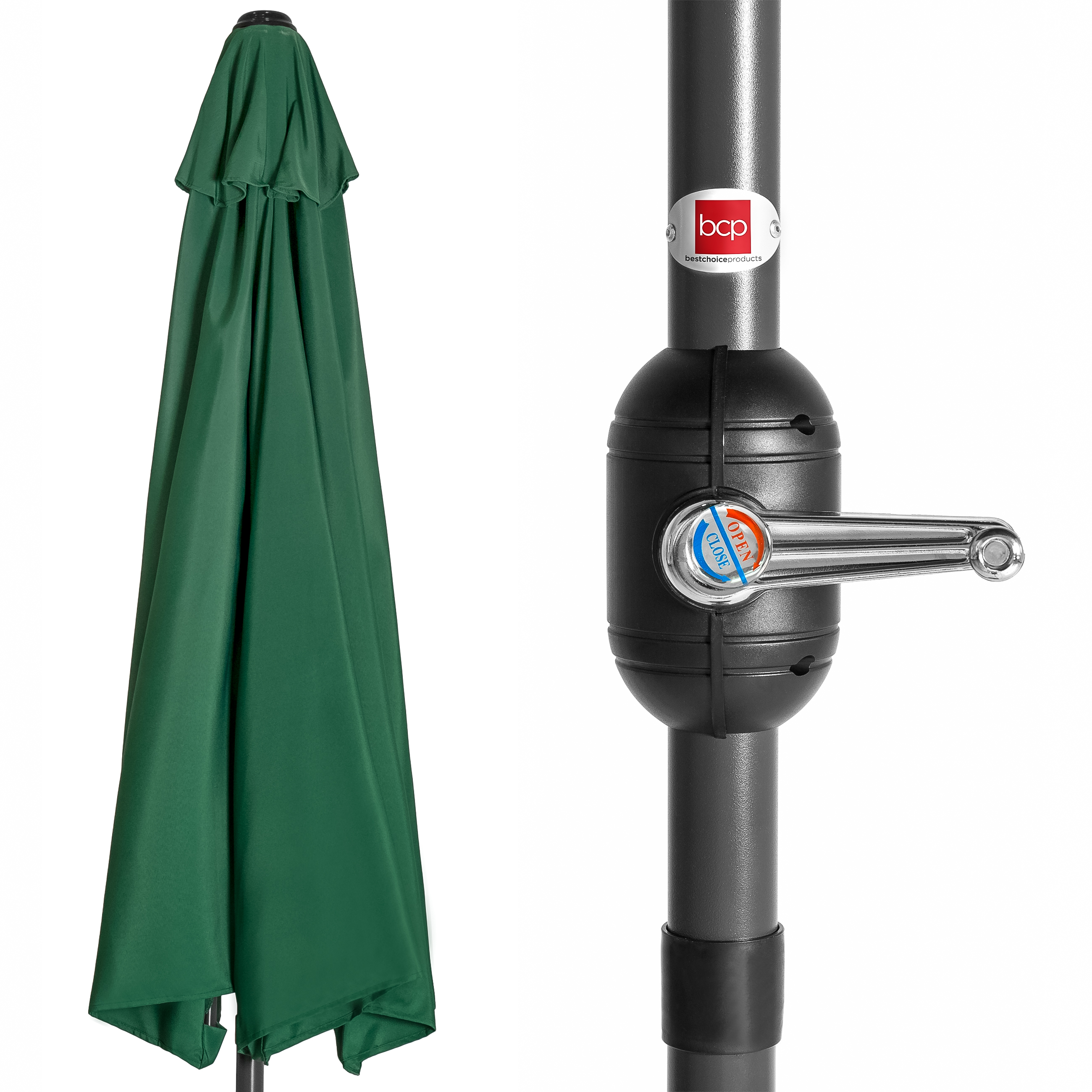 BCP-9ft-Half-Patio-Umbrella-w-Crank-Steel-Frame-UV-amp-Water-Resistant-Fabric thumbnail 23