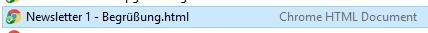 Beispiel-Datei mit 4 Zeichen im Dateiformat