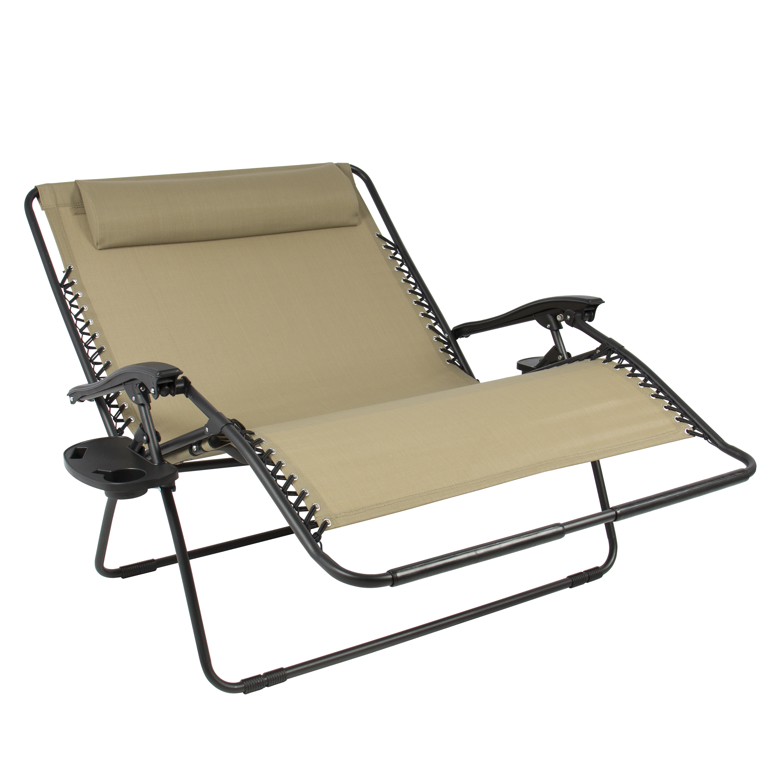 Bcp Huge Folding 2 Person Gravity Chair Double Wide