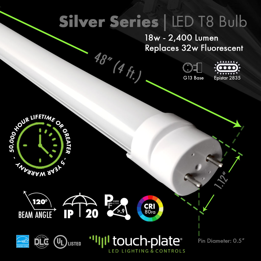 Silver-Series-LED-T8s
