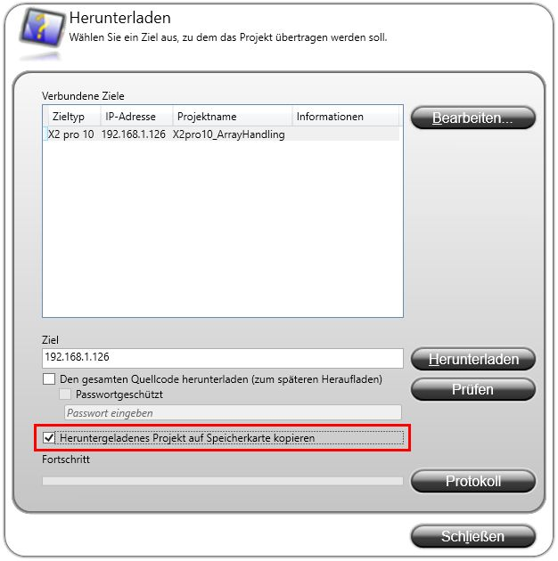 iX Developer Download Dialog