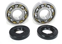 Main Crank Shaft Bearings and Seals Kit Honda FL250 Odyssey - 62-0085 - Boss Bearing