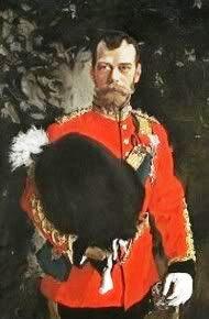 Николай II в униформе шефа полка Шотландских Серых