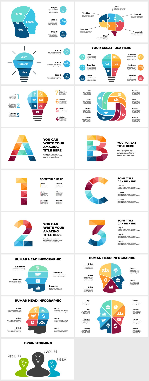 Huge Infographics Bundle! Lifetime Updates! PowerPoint, Photoshop, Illustrator. - 104