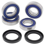 Both Rear Wheel Bearings Seals Kit Suzuki LT-A400F 4WD KingQuad 2008 - 2015