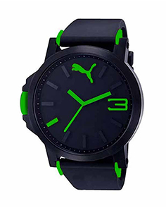 MyCross Mens Black Dial Watch - Green