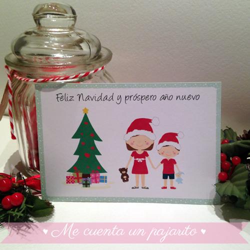 Felicitación de Navidad personalizada con niños