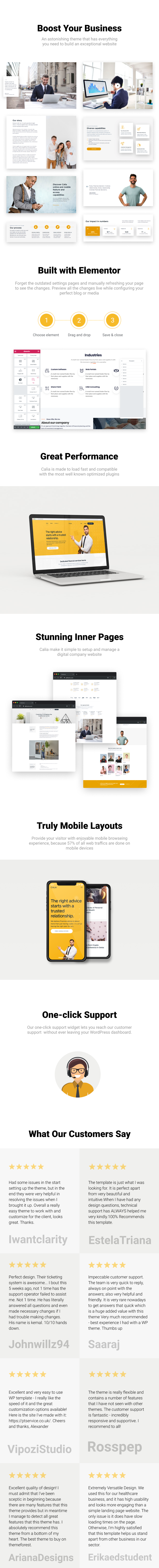Calia - Business and Management WordPress Theme - 1