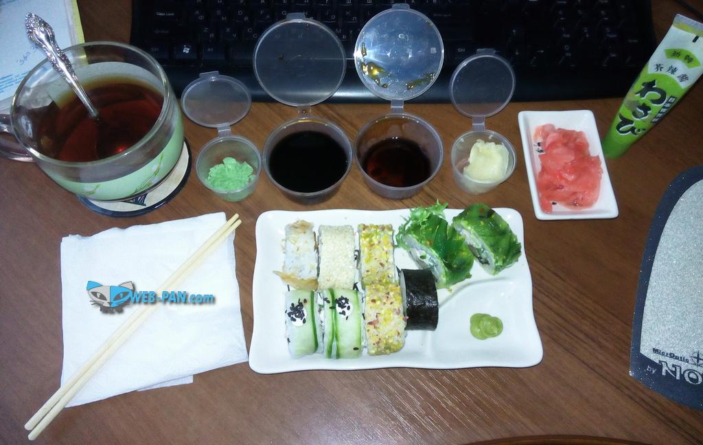 Суши на столе, вкусняшка своими руками!