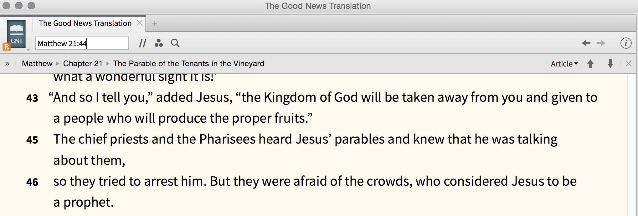 GNB Matthew 21:44