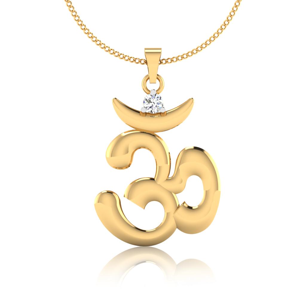 The Omkara Diamond Pendant
