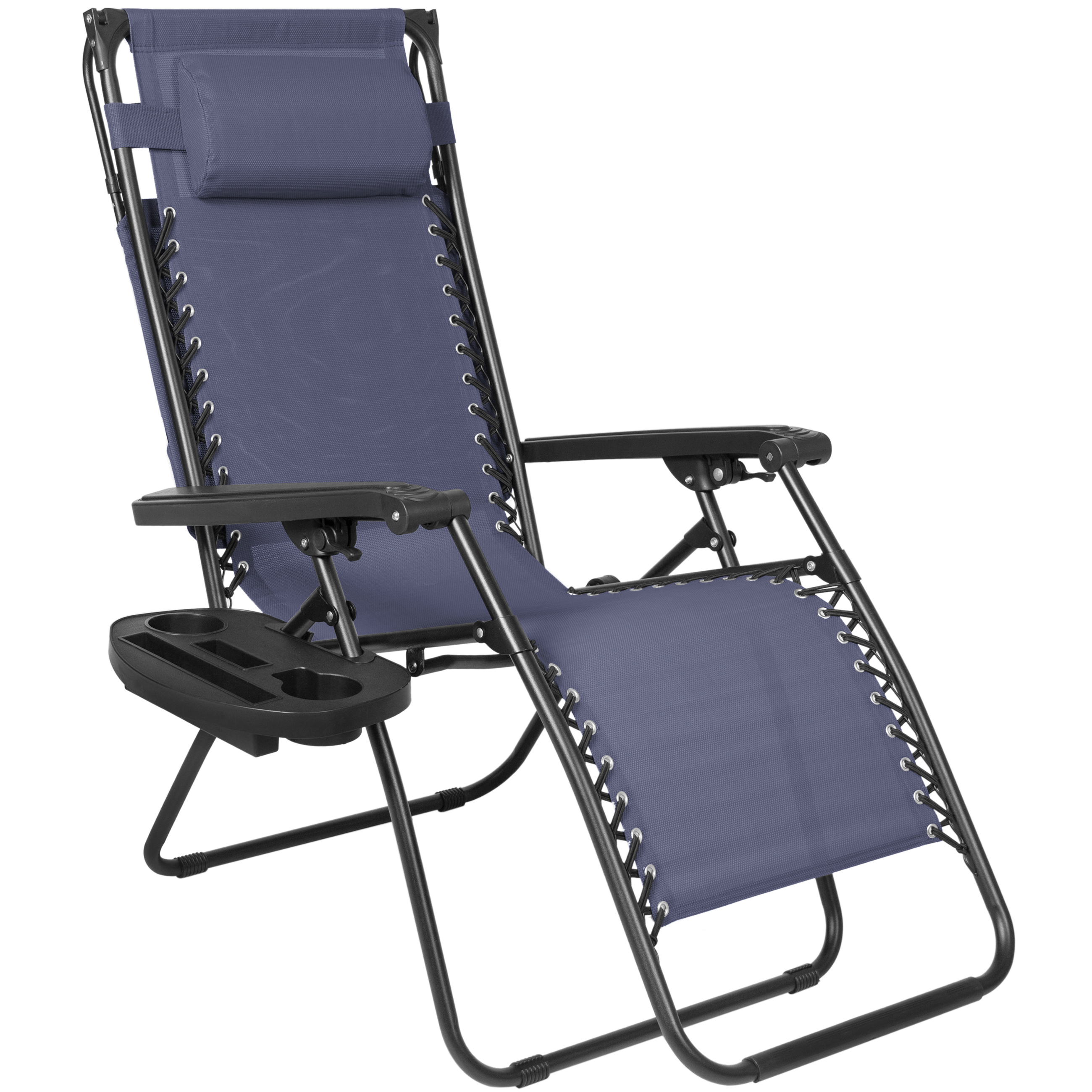 Folding Zero Gravity Recliner Lounge Chair W Canopy Shade ...