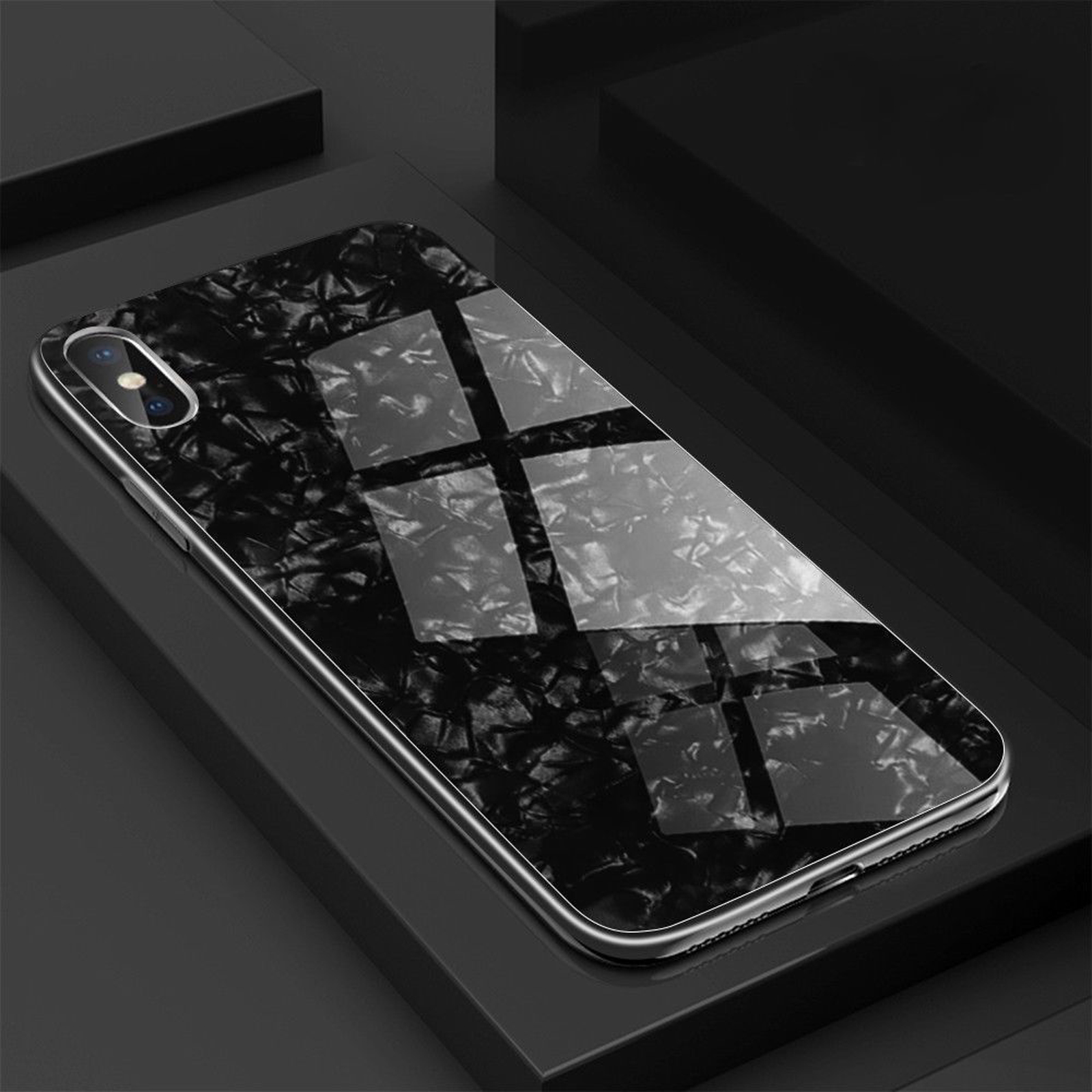 Luxury-Marble-Tempered-Glass-Case-Cover-For-Apple-iPhone-X-XS-XR-Max-10-8-7-6s-6 miniature 23