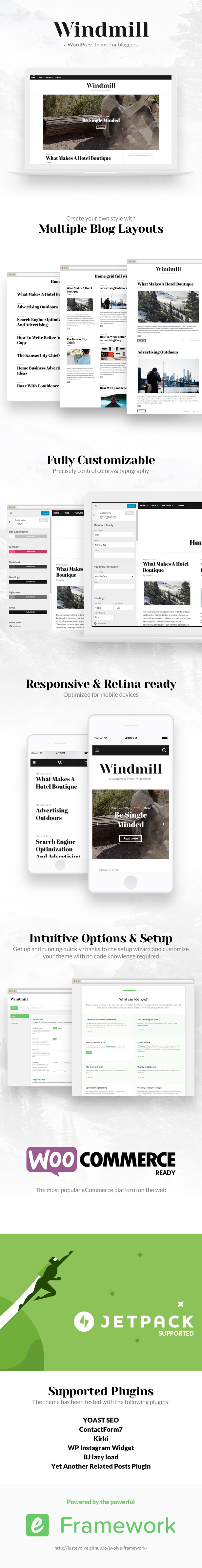 Windmill - A Responsive WordPress Blog Theme
