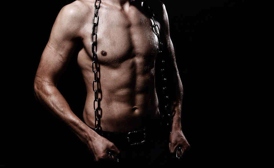Hot guy with chains