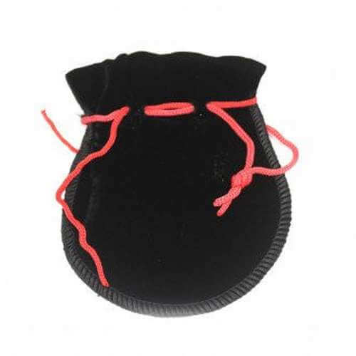 velvet pouch - black round