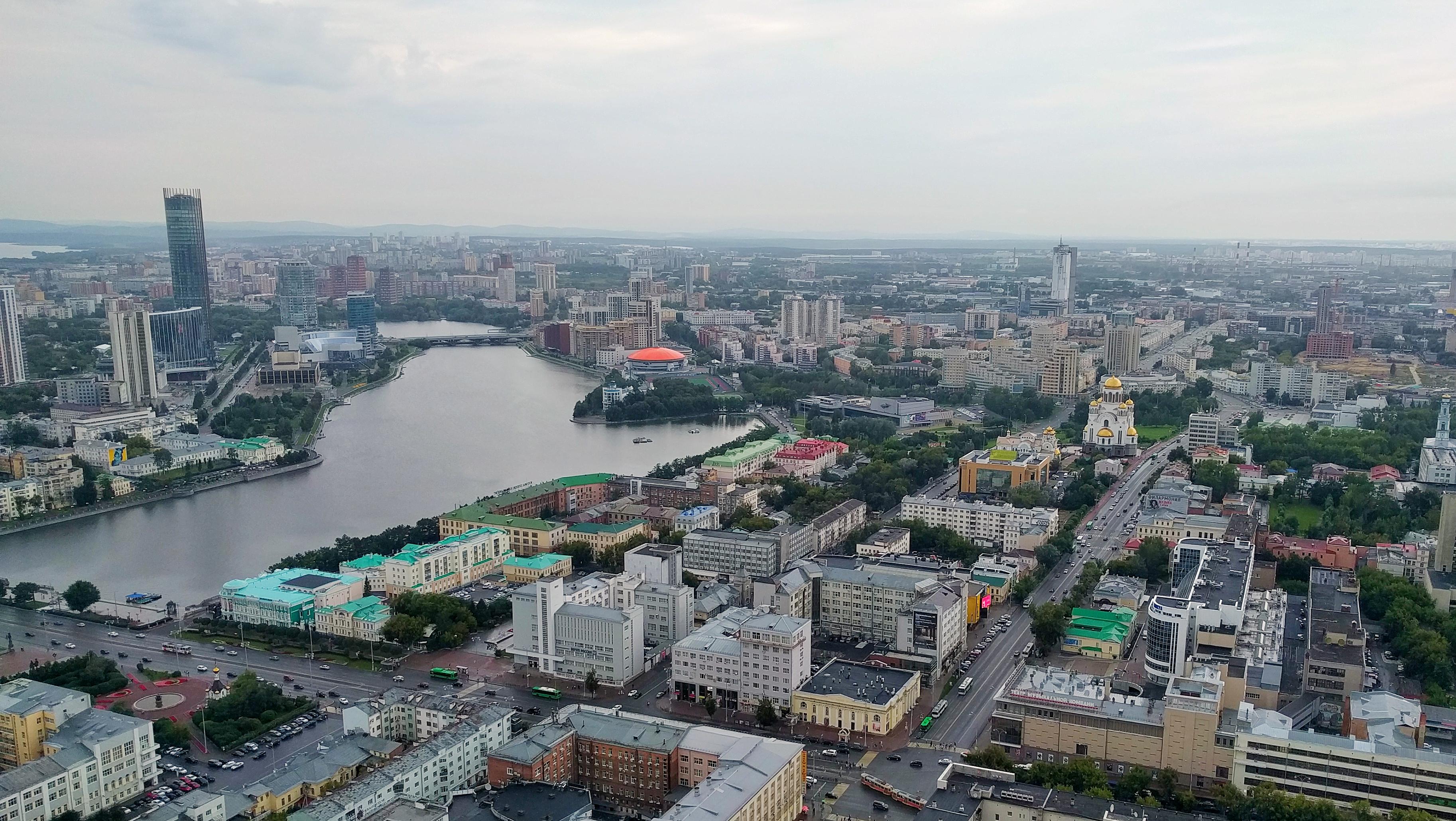 Yekaterinburg vanop de hoogste toren