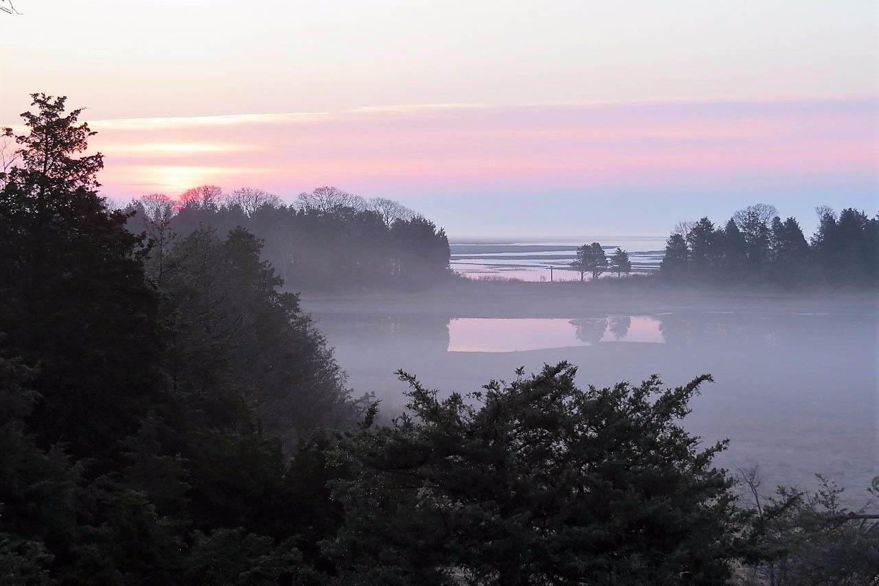 4 Rabbit Run Sunrise on a Misty Day