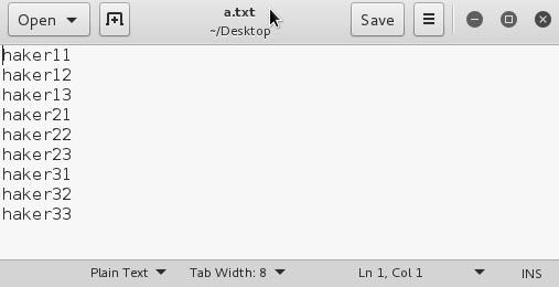 słownik tekstowy w kali linux