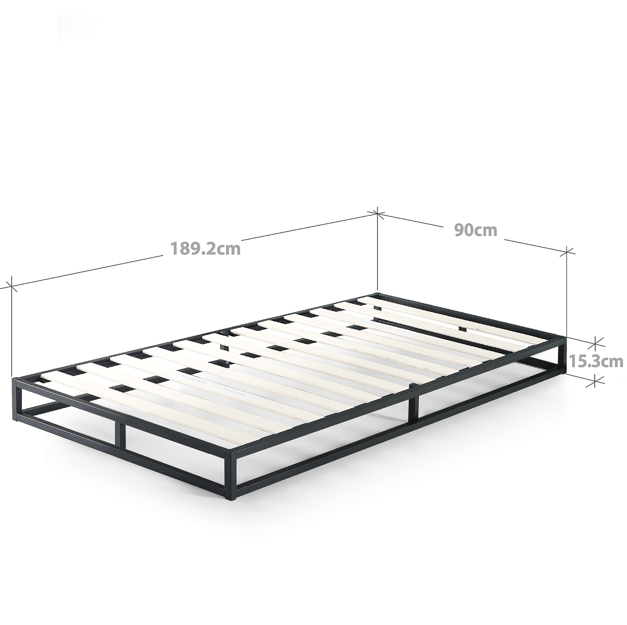 Zinus-Joesph-SINGLE-DOUBLE-QUEEN-KING-Metal-Low-Bed-Base-Mattress-Frame-Timber thumbnail 15