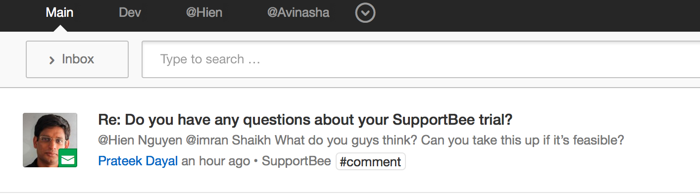 Flowdock SupportBee Comment