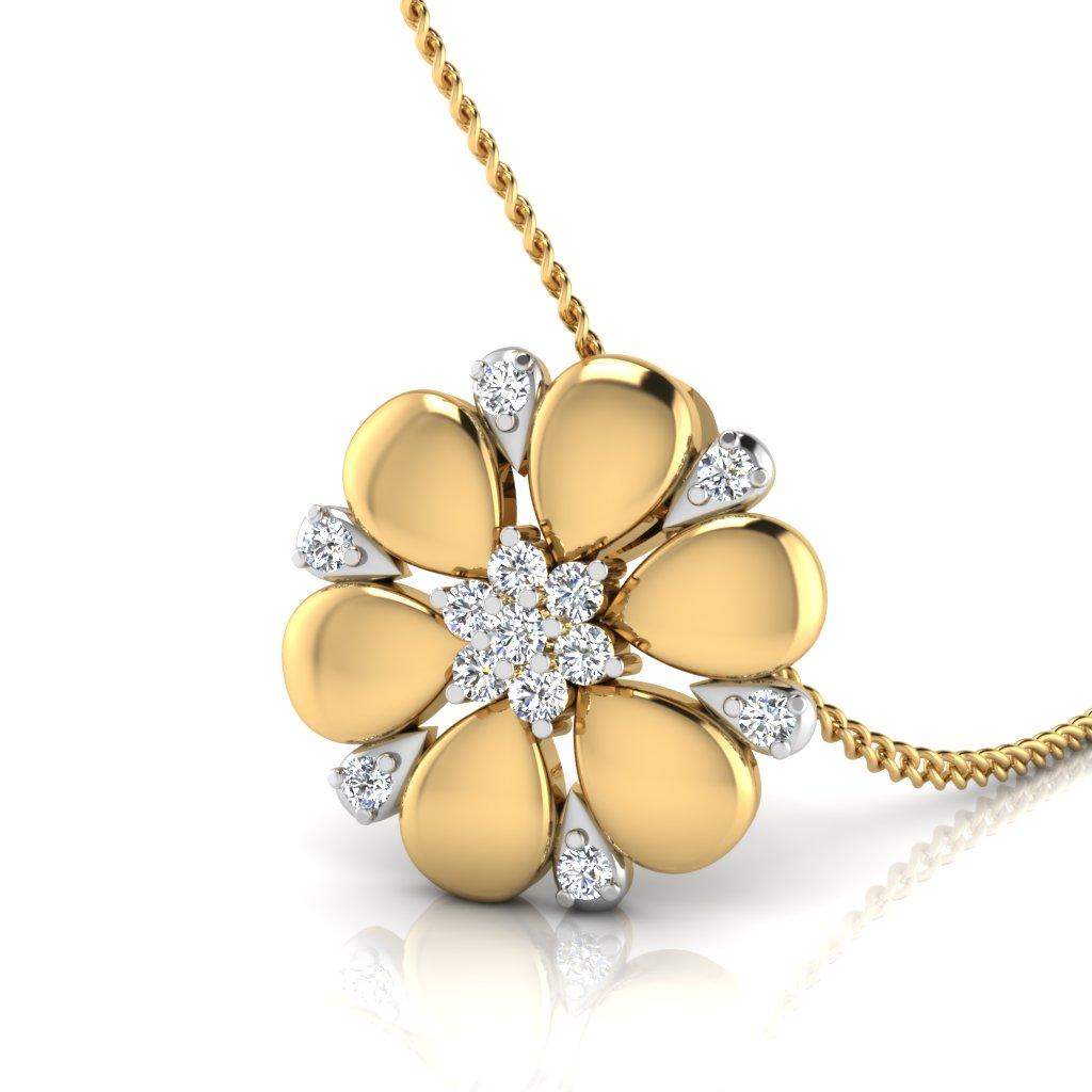 The Floral Flower Diamond Pendant